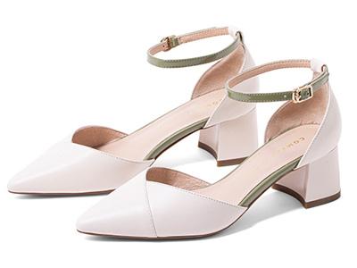 comely康莉2020夏季新款一字扣帶單鞋
