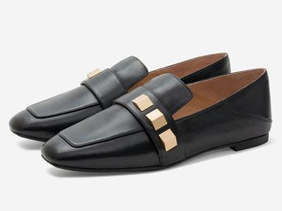 汤普葛罗2020春夏新品一脚蹬平底舒适英伦乐福鞋