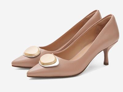 汤普葛罗2020年春夏新品尖头时尚通勤高跟鞋