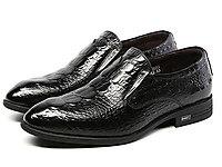 鱷魚恤男鞋新款時尚舒適套腳商務正裝鞋