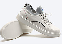 皮尔卡丹2020春夏时尚运动真皮百搭男鞋