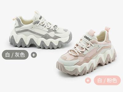 田莘honeyGIRL网红大波浪老爹鞋女2020春季新款