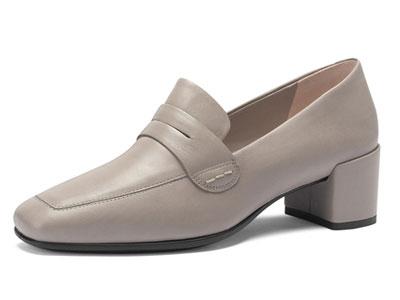 ECCO爱步仙女高跟鞋2020春季新款方头粗跟单鞋