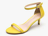 萊爾斯丹-新款一字帶細跟中跟綁帶高跟鞋