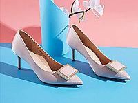 单鞋女中跟色非2020新款春季晚晚风温柔鞋