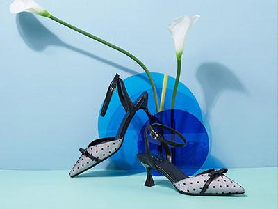 色非2020新款网纱拼接性感尖头细跟仙女风高跟鞋