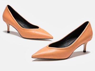 麦露迪2020春季新款真皮尖头高跟鞋女细跟
