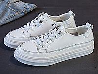 比佳妮小白鞋2020新款女鞋軟皮單鞋