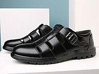 奈仑希夏季中老年包头凉鞋男镂空中年透气皮鞋