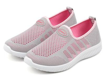 唐福轩运动休闲鞋一脚蹬飞织鞋