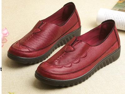 唐福轩中老年休闲鞋平底防滑奶奶鞋