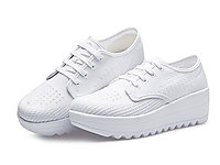 哥弟女鞋2020春季新款厚底透氣小白鞋