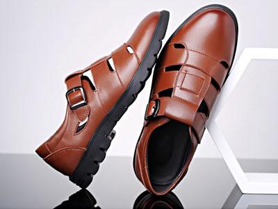 啄木鸟男鞋夏季休闲洞洞鞋男士镂空皮鞋