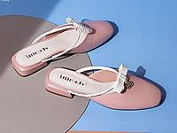 斯莱曼蒂单鞋女2020新款后空拖鞋