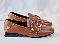 木林森女鞋春季新款平底�乐福鞋女英伦风