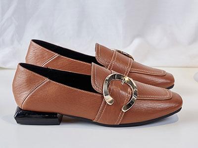 木林森女鞋春季新款平底乐福鞋女英伦风