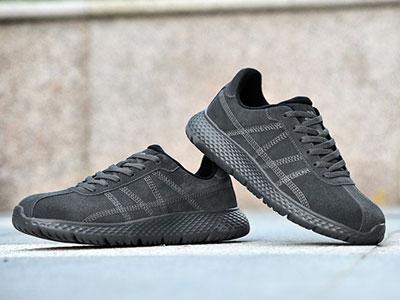 哥仑步户外皮面新款透气男女运动鞋跑步鞋