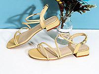 高蒂涼鞋2020年新款女低跟時尚百搭夏季羅馬女鞋