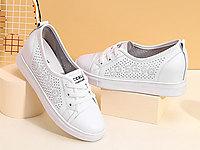 高蒂內增高小白鞋女2020夏季新款鏤空平底淺口