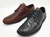 雅乐士鸵鸟足皮手工上线皮鞋