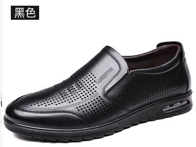 老人头镂空皮鞋男士凉皮鞋2020新款