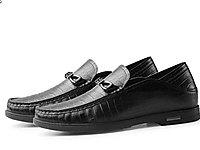高哥增高鞋6cm真皮豆豆鞋軟底軟皮一腳蹬