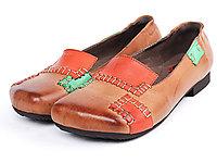相伴民族风真皮豆豆鞋女2020夏季平跟单�|鞋