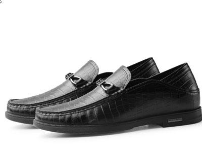 高哥增高鞋6cm真皮豆豆鞋软底软皮一脚蹬