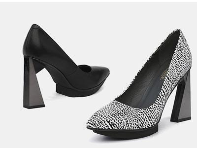 翡丽玫瑰jadyrose春季2020新款单鞋浅口高跟鞋