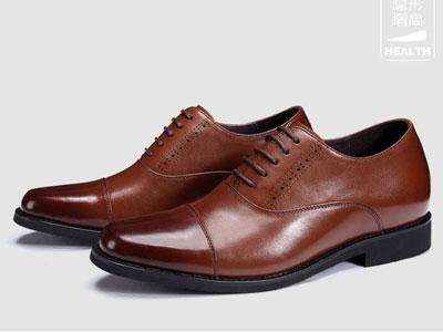 梵狄高新款隐形内增高7CM经典商务正装皮鞋