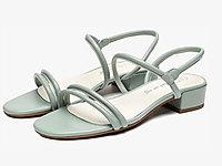 CNE夏季新款一字細帶方頭平底鞋羅馬細帶涼鞋