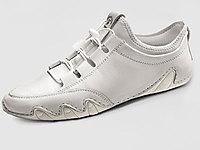 吉普盾休閑皮鞋真皮軟底白色男鞋百搭潮流鞋