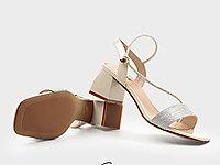 克克2020夏季新款漆皮粗跟女鞋中跟百搭凉鞋