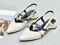 芭妮仙女真皮凉鞋子女2020百搭中跟温柔鞋