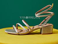 毅雅仙女罗马高跟鞋中跟2020年新款