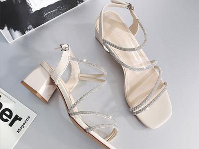 莎诗特仙女风粗跟女鞋2020夏新款韩版