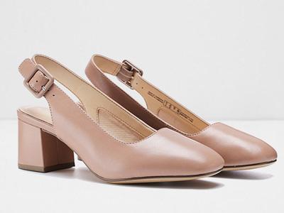 clarks其乐女鞋2020圆头粗高跟后空单鞋
