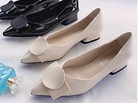 卡璐美女鞋新款2020春夏尖头浅口漆皮方跟潮流