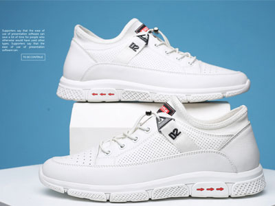 雅浪健康鞋夏季小白鞋男透气镂空凉鞋
