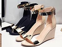 欧情派2020夏季新款仙女风露趾一字带高跟凉鞋