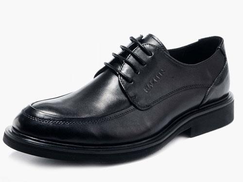 bACeeN百臣男士英伦风系带真皮-大码低帮鞋