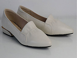 茉莉花2020春季新款头层牛皮休闲单鞋