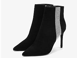 万里马女鞋性感细跟高跟女靴冬季新款短靴