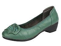 登云单鞋大码中跟中老年舒适坡跟女皮鞋
