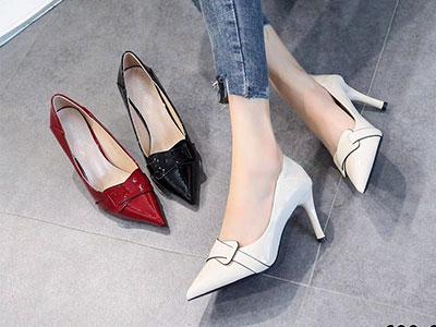 靓思图2020新款细跟单鞋职业女鞋