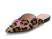 Pretty-Ballerinas�燃同款西班牙尖�^豹�y穆勒鞋