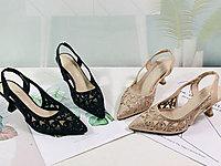 安嘉莉女鞋2020夏季新款百搭�W�仙女高跟鞋