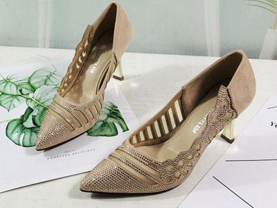安嘉莉女鞋2020夏季新款时尚镂空网单鞋