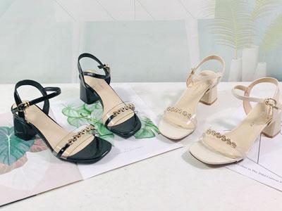 安嘉莉女鞋2020夏新款休闲仙女风百搭露趾凉鞋