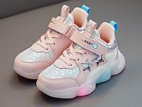 百变米奇童鞋女秋季革面运动鞋2020新款
